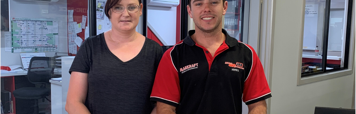 WDEA Works Jobseeker Michelle Dransfield & Employer James Whitworth from Mildura 4WD Accessories & Markraft Engineering